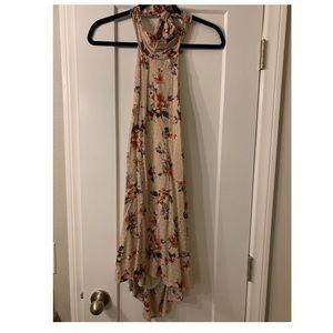 Halter floral dress. Never worn.